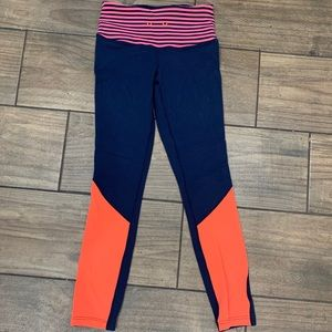 Lululemon reversible blue orange leggings